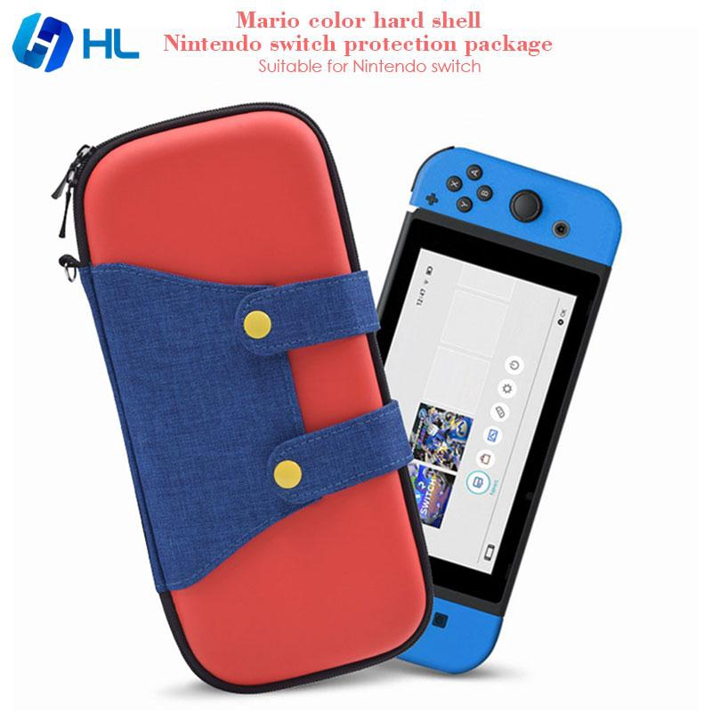 ❤HL Nintendo Switch Carry Bag Case Storage Controllers for Mario Hard Shell Zipper