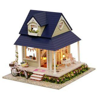 Kèm mica và nhạc – Mô hình nhà gỗ búp bê dollhouse DIY – A060 Bicycle Angel