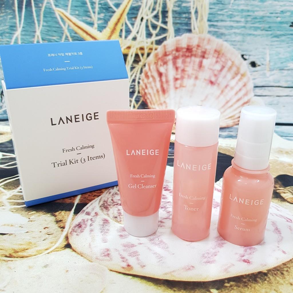 Kit dưỡng da 3 món LANEIGE Fresh Calming Trial Kit ( SRM + Toner + serum )