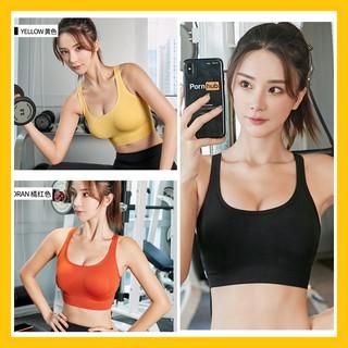 [GYMPO + CLIP] Áo Bra Tập Gym Yoga – Áo ngực thể thao gài lưng Quảng Châu có đệm ngực