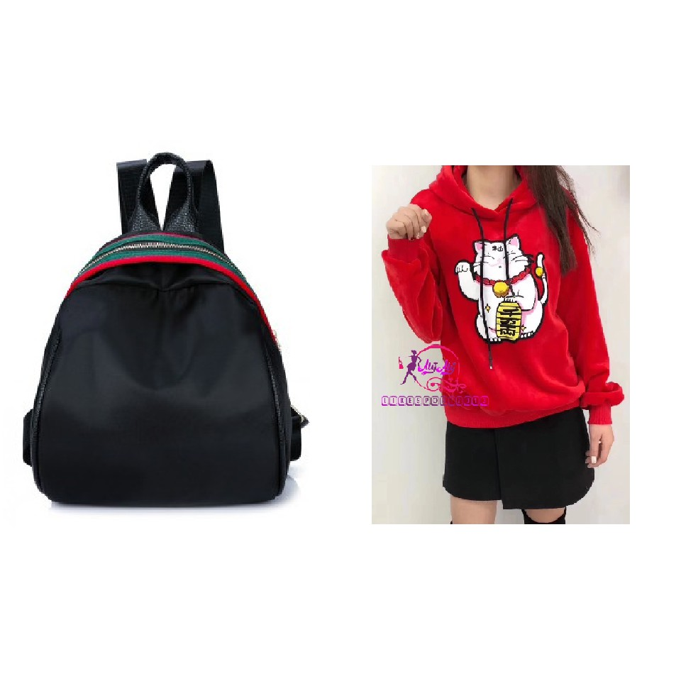 Combo cho nàng Balo bầu trơn A140 phối viền xanh đỏ + áo hoodies cao cấp mèo vẫy tay B046 - 3346296 , 858096117 , 322_858096117 , 400000 , Combo-cho-nang-Balo-bau-tron-A140-phoi-vien-xanh-do-ao-hoodies-cao-cap-meo-vay-tay-B046-322_858096117 , shopee.vn , Combo cho nàng Balo bầu trơn A140 phối viền xanh đỏ + áo hoodies cao cấp mèo vẫy tay B0