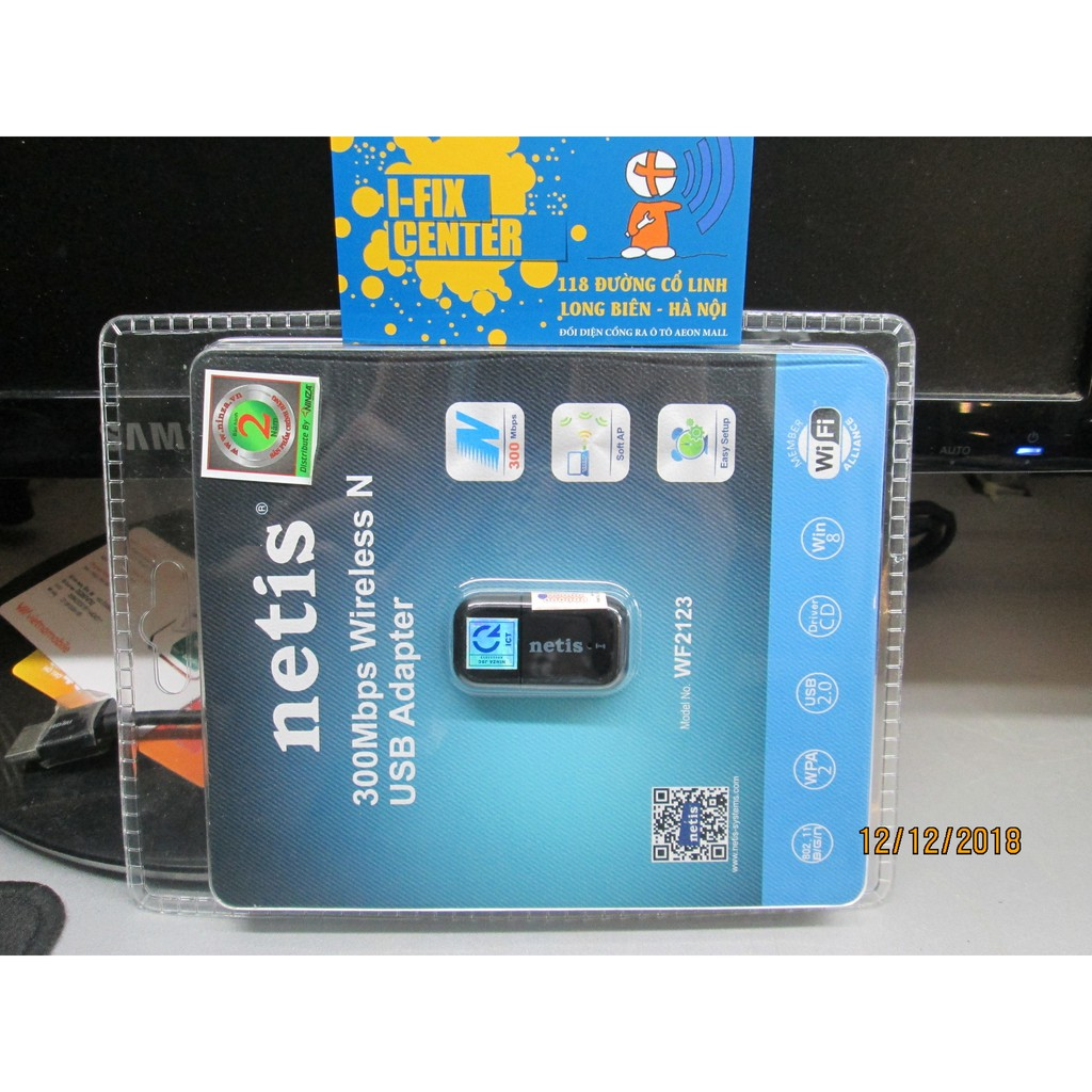Bộ USB Thu WiFi Netis WF2123 300MB
