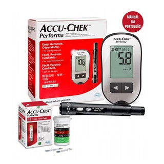 Máy đo đường huyết accucheck Performa tặng hộp que thử 10 que