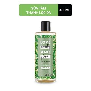 Sữa tắm làm sạch sâu và mang lại cảm giác tươi mát Love Beauty And Planet Pure And Positive 400ml thumbnail