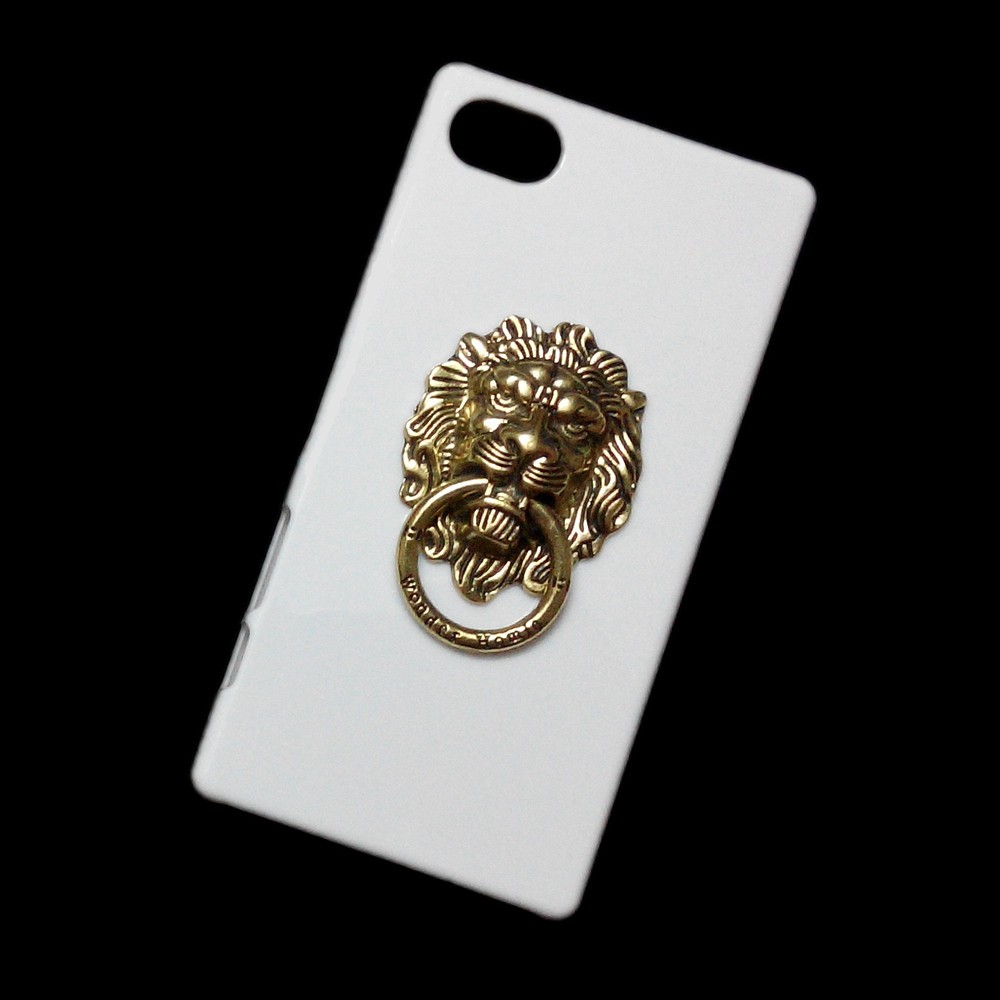 Bronze Lion Head Ring Stand Holder Back Hard Case Cover for Sony Xperia Z5 Compact