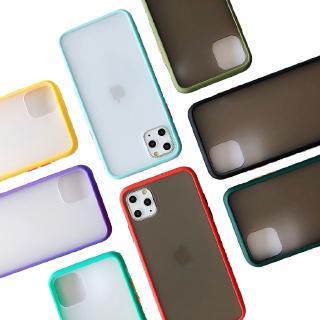 Ốp điện thoại silicon và PC bán trong suốt màu sắc mới nhất 2019 cho iPhone 11 Pro 7 8 plus x xs max xr