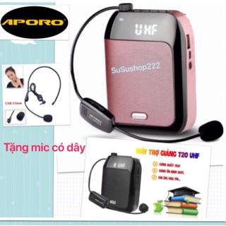 FOLLOW SHOP GIẢM 5K- Máy trợ giảng không dây Aporo T20 UHF (tặng kèm mic có dây nhân dịp đầu năm học mới) thumbnail