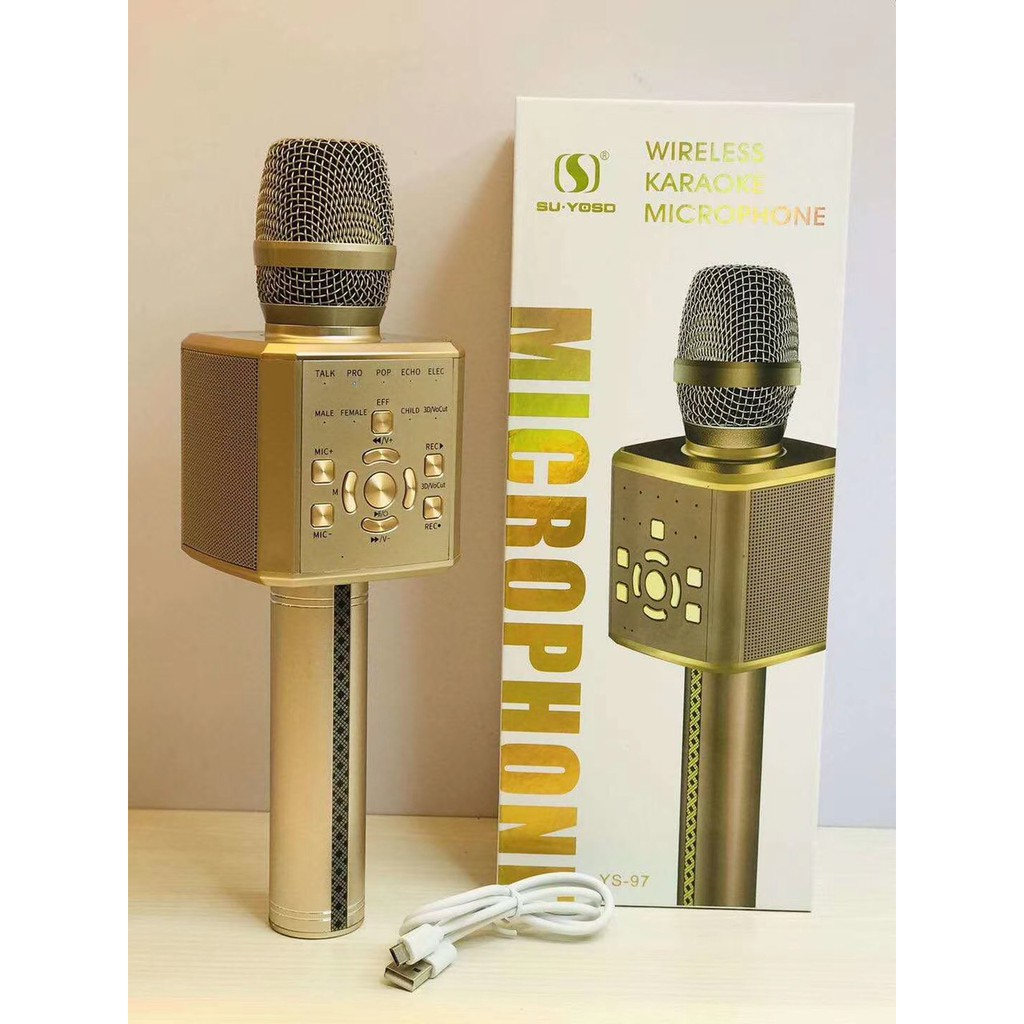 Micro Kèm Loa Bluetooth Karaoke YS-97 | Shopee Việt Nam
