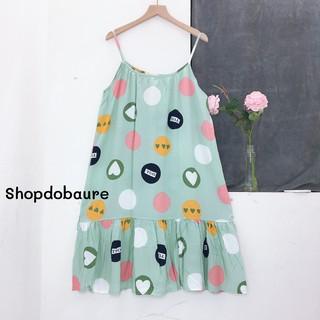 Váy bầu 2 dây dễ thương, chất lanh mềm mát, mặc nhà, mặc ngủ thoải mái – 𝐕𝟒𝟕