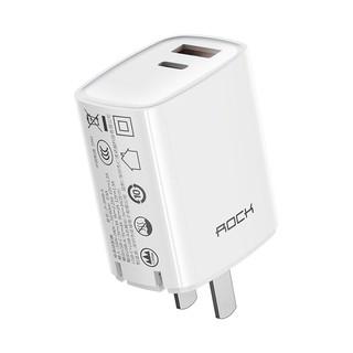 Củ sạc nhanh iPhone Rockspace T42, 2 cổng USB-TypeC sạc nhanh 18w, 20W, ổn định, không nóng máy, nhỏ gọn, hàngchính hãng