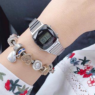 Đồng hồ nữ dây kim loại chính hãng casio LA670WAD-1DF