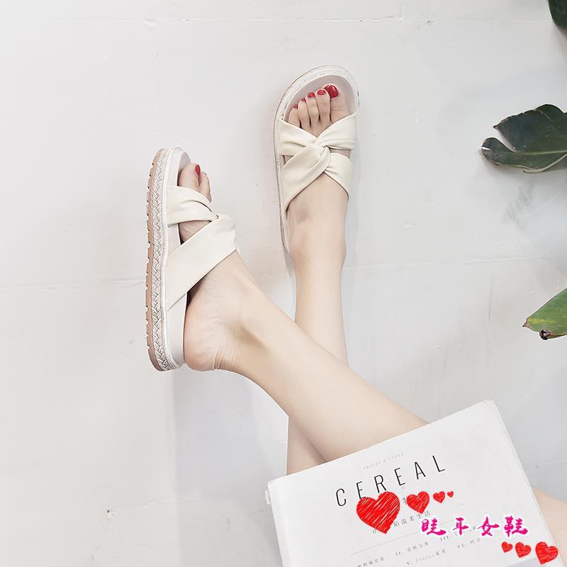 ☆spot stock ☆Net red beach girl heart sandals and slippers 2