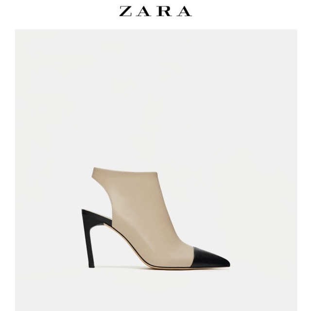 Boots DA THẬT hở gót hiệu Zara Auth 100%