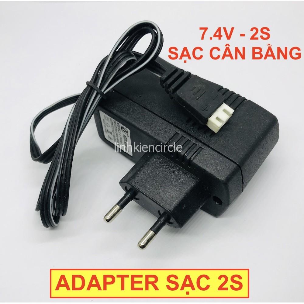 Sạc pin adapter 2s 7.4V sạc cổng cân bằng có đèn báo – LK0321