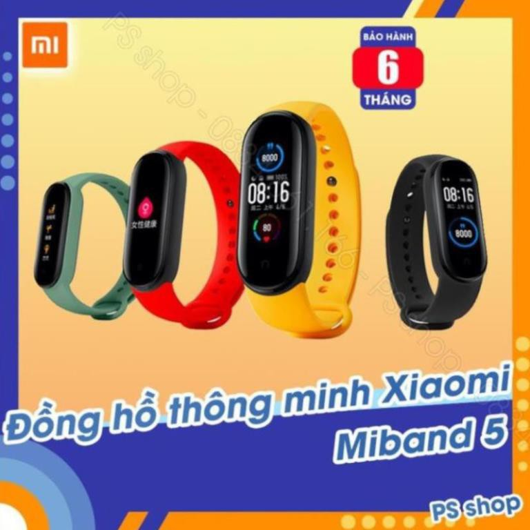 Vòng tay thông minh Xiaomi Mi Band 5 / Đồng hồ thông minh Miband 5 -  [ Bảo hành 6 tháng ] DL379