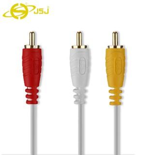 Dây tín hiệu âm thanh 6 đầu bông sen (AV/RCA) JSJ 6431 dài 1.8m - 15m dây đúc liền mạch và co giãn tốt, đầu cắm mạ vàng
