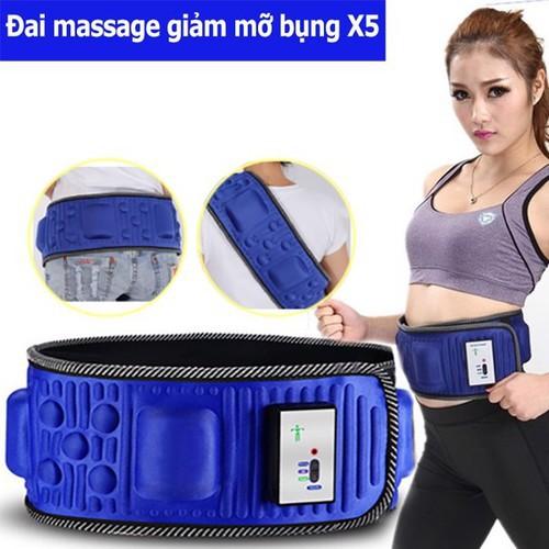 [BH 1 ĐỔI 1]Đai massage giảm béo X5 Hàn Quốc, đai massage giảm mỡ bụng CỰC HIỆU QUẢ