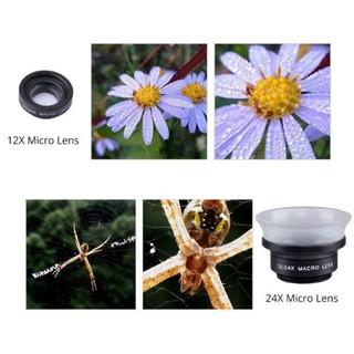 Ống kính Macro 2in1 chuyên nghiệp 12X + 24X (APL-24X) cho điện thoại -SALE