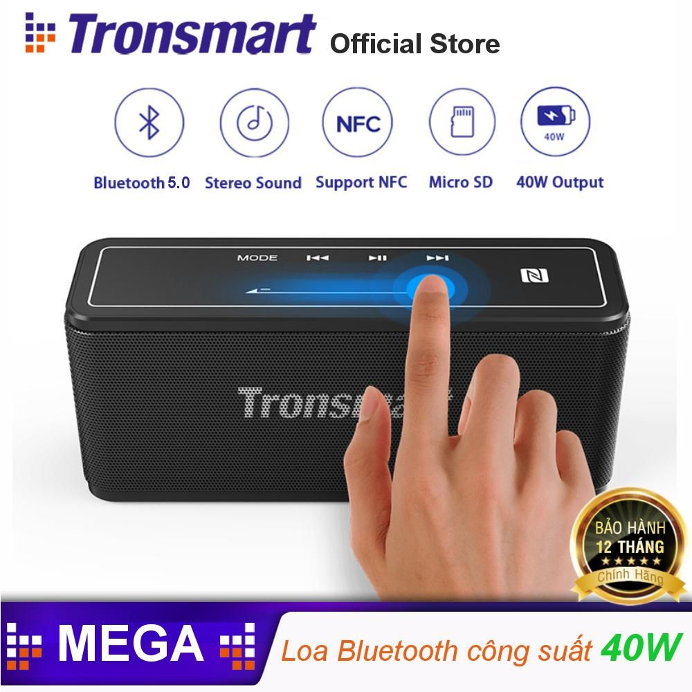 Loa Bluetooth công suất 40W Pin 15h TRONSMART Element Mega Hàng chính hãng BH 12 tháng