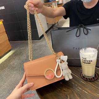 Túi Ngọc trinh khóa tròn đá mờ túi xách nữ sang trọng hàng đẹp TXCKDA (không kèm gấu) + ảnh shop chụp