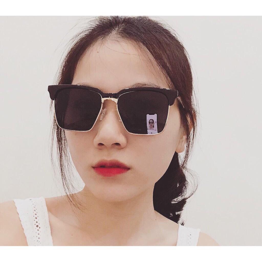 Kính mát nam nữ thời trang mắt vuông phong cách Hàn Quốc cao cấp chống tia UV ABICA 202