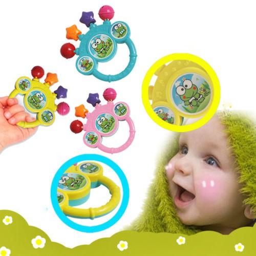 Phim hoạt hình trẻ sơ sinh bé chuông lắc tay món quà âm nhạc đồ chơi