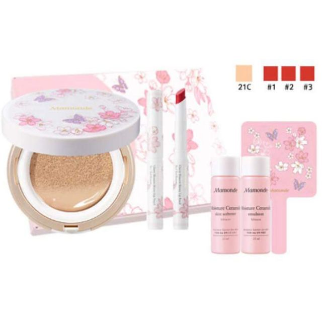 Set Make Up Phấn Nước + Son Bút Chì Mamonde