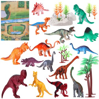 【cals】 31PCS Dinosaurs Animal Figures Model Toys Toy Set for Kid Party Gifts