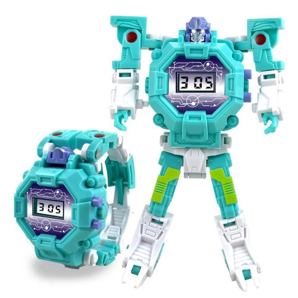 นาฬิกา นาฬิกาหุ่นยนต์ นาฬิกาเด็ก นาฬิกาหุ่นยนต์หุ่นยนต์แปลงร่าง เป็น นาฬกา และหุ่ยนต์ SK-1114-1าฬิกา นาฬิกาหุ่นยนต์ นาฬิ