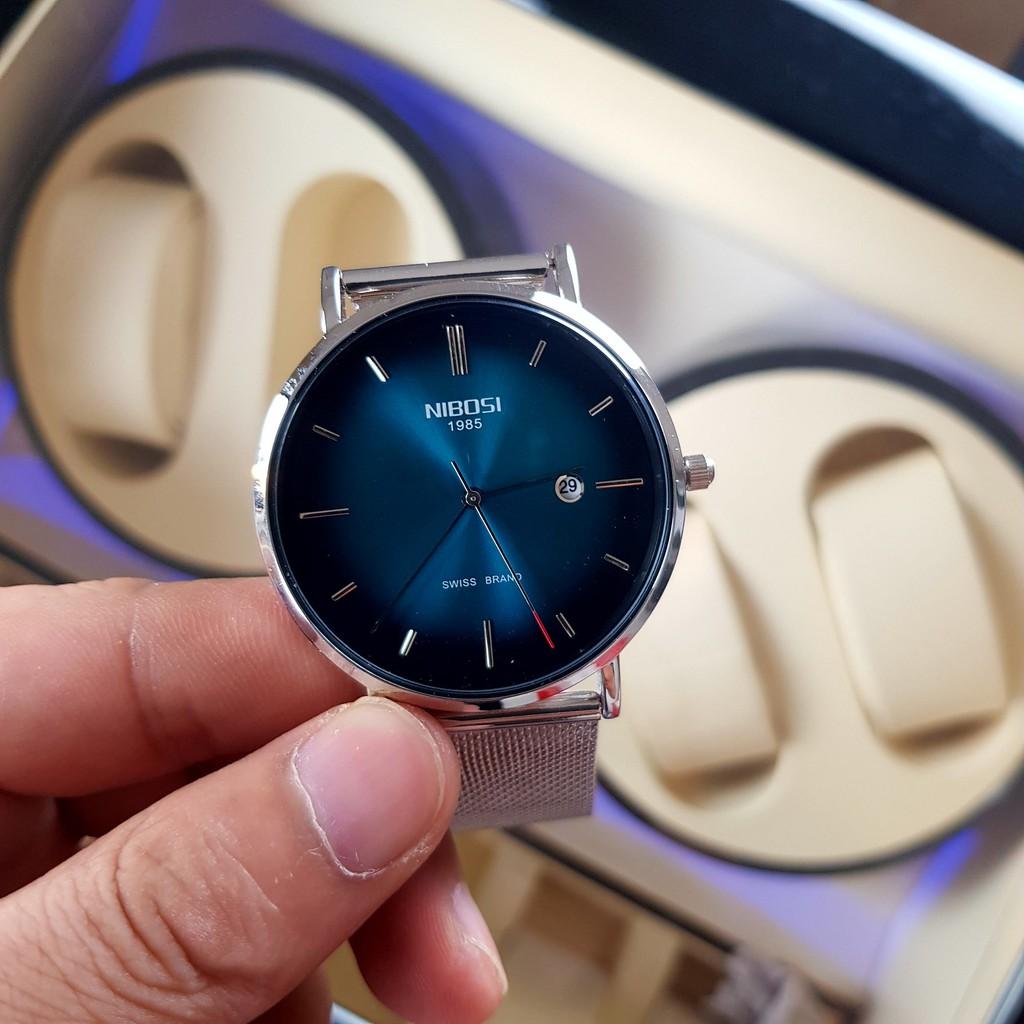 [Tặng vòng tay]Đồng hồ nam NIBOSI chính hãng NI2362.12 dây thép không gỉ