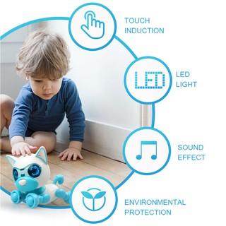 Đồ chơi robot âm thanh hình con chó dễ thương gắn đèn LED