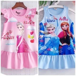 SALE HOT - Váy Đầm thun Bé Gái Công Chúa Elsa Cao Cấp Size nhí đại