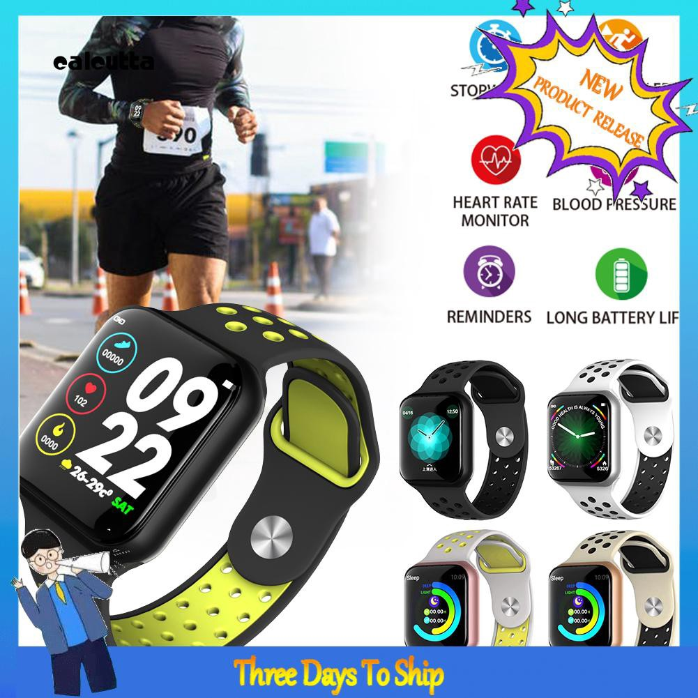 ✡CAL✡F8 Full Touch Color Screen Heart Rate Sleep Health Monitor Sports Smart Bracelet