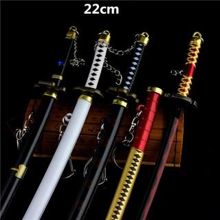 Mô hình móc khóa 3 thanh Kiếm Zoro Hải Tặc One Piece (tặng kèm bộ giá đỡ)