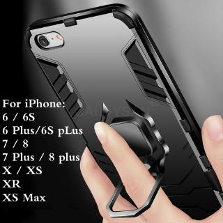 Ốp điện thoại cứng có nhẫn gài cho IPHONE 11 PRO MAX 6 6S 7 8 PLUS X XS XR XS MAX