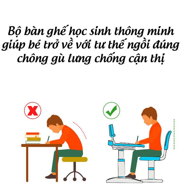 Bàn học sinh chống gù lưng phiên bản hoạt hình điều chỉnh độ cao