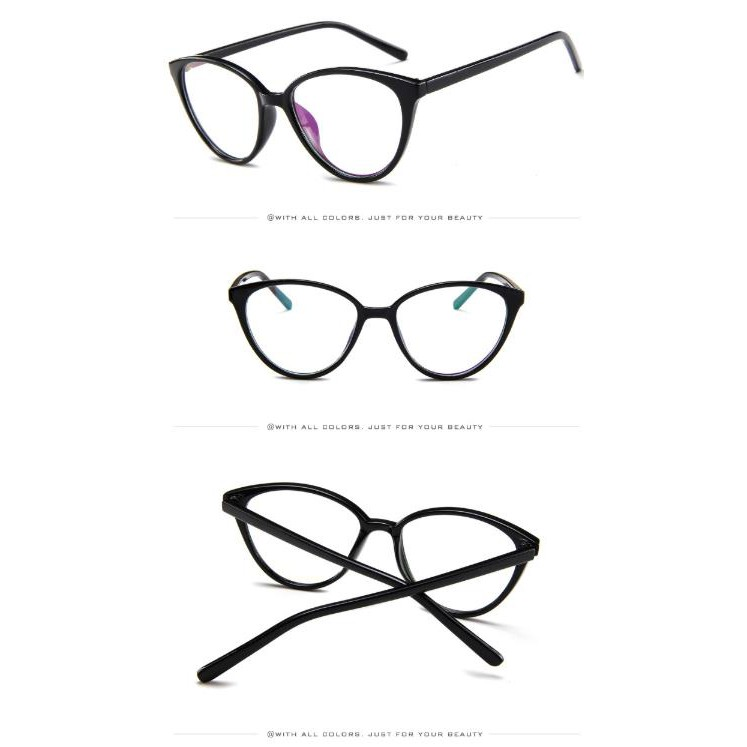 GD Fashion trend all-match glasses frame European and American retro large frame glasses frame New cat eye flat mirror