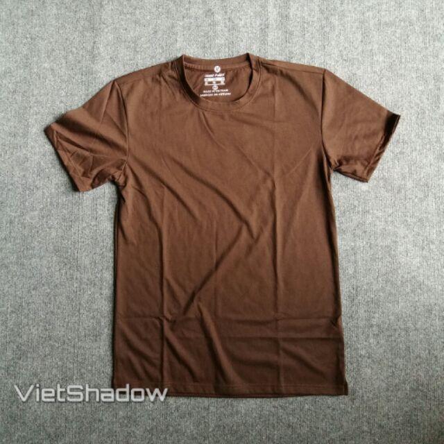 Áo phông trơn thương hiệu VietShadow cổ tròn màu nâu