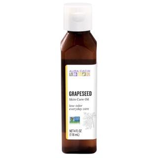 [Mẫu mới] Dầu hạt nho grapeseed oil Aura Cacia 118ml