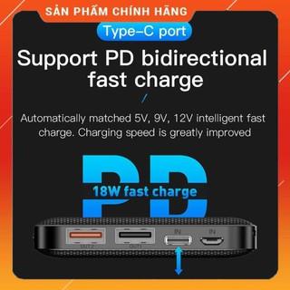 Pin sạc dự phòng hỗ trợ sạc nhanh 18W dung lượng 10.000 mAh 2 x USB và Type-C hiệu Totu Honeycomb - Hàng chính hãng thumbnail