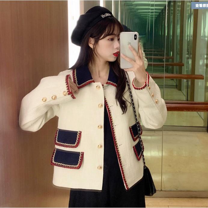 Áo khoác blazer vải dạ tweed tiểu thư sang chảnh hiện đại trendy