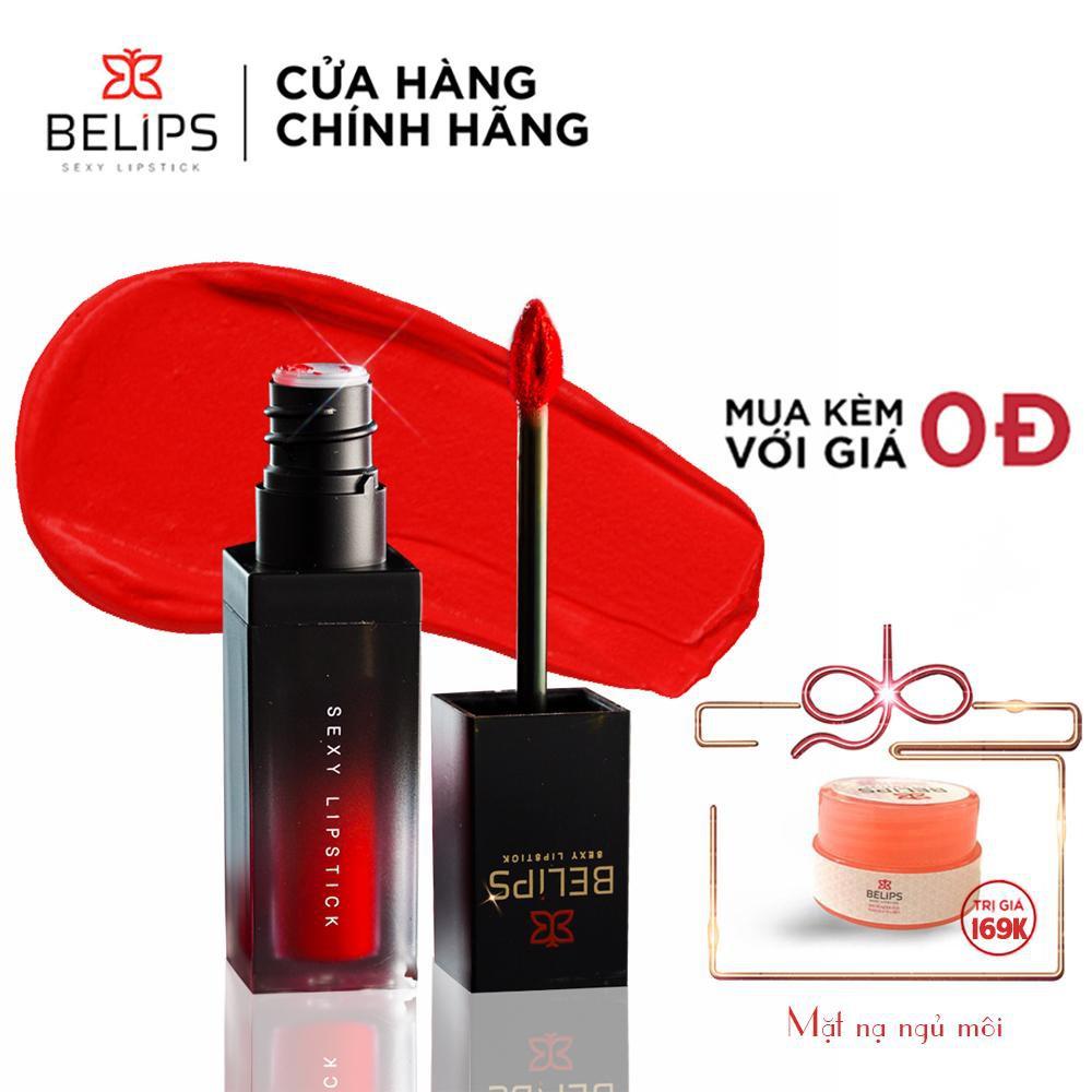 Son Kem Lì Mỏng Nhẹ Mềm Môi Belips Sexy Lipstick 100% thiên nhiên không chì, an toàn cho cả mẹ bầu
