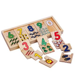 Đồ Chơi Giáo Dục – Ghép Số Domino – Đồ Chơi Toán Học