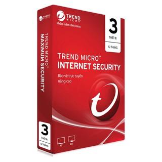Trend Micro Internet Security 3pc (2021 3mã key)