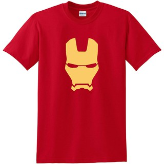 foolsgoldtshirts Ironman Mask Avengers Superhero and Adults T-Shirt Short sleeve Print graphic Loose Casual Cotton