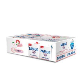 Sữa Nest'le hương dâu trắng . Thùng 48 hộp × 180ml