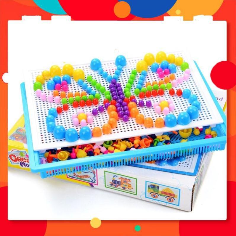 THANH LÝ – Bộ đồ chơi 296 hạt nhựa nấm xếp hình Creative Mosaic ❤️❤️❤️ – LẺ RẺ NHƯ SỈ. Đồ Gia Dụng BinBon