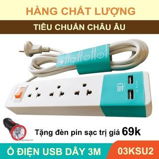 [HÀNG CHÍNH HÃNG] Ổ cắm điện 02 USB CAO CẤP – UCOMEN Chuẩn ÚC_Tặng đèn pin giá 69k