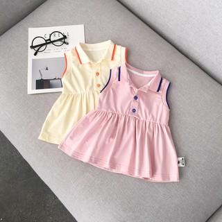 Váy thun cổ polo Babycity