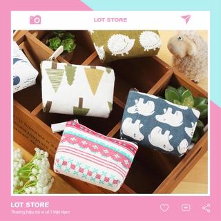 Túi vải canvas đựng tẩy đồ dùng tiện ích đáng yêu TI04 thumbnail